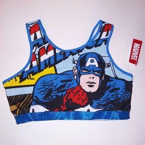 Captain America Sports Bra